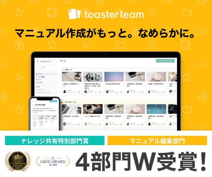 ナレッジシェアツール toasterteam